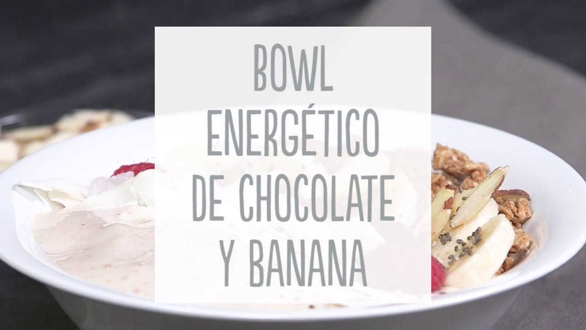 Bowl energético de chocolate y banana